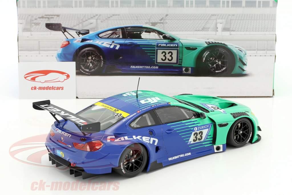 BMW M6 GT3 #33 Team Falken 24h Nürburgring 2017 1:18 Minichamps