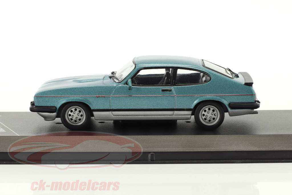 Ford Capri MKIII 2.8 Construction year 1982 blue metallic / silver 1:43 GTI Collection
