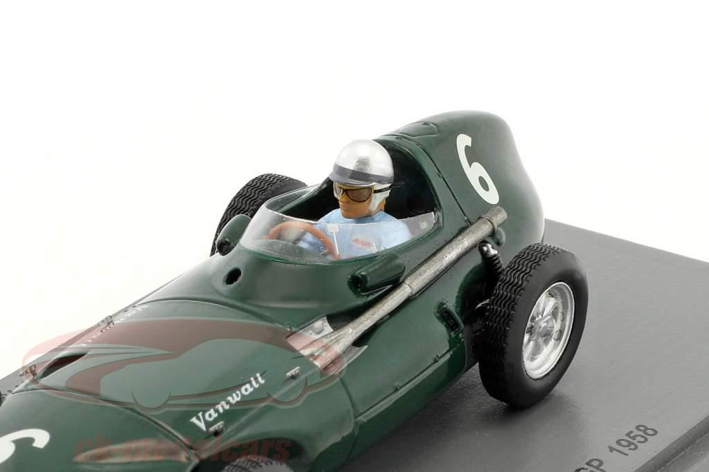 Stuart Lewis-Evans Vanwall VW5 #6 3 Belgique GP formule 1 1958 1:43 Spark