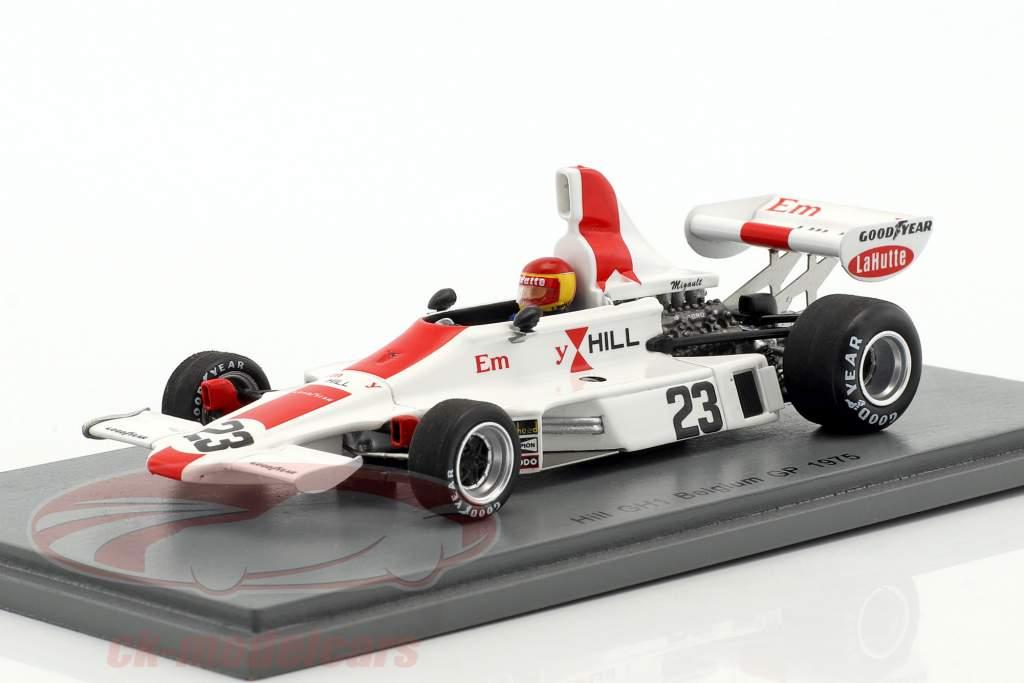 Francois Migault Hill GH1 #23 Belgian GP formula 1 1975 1:43 Spark
