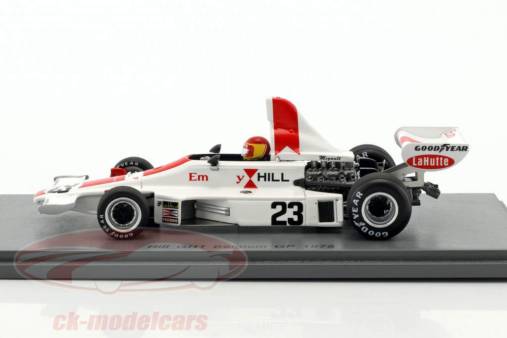 Francois Migault Hill GH1 #23 Belgien GP Formel 1 1975 1:43 Spark