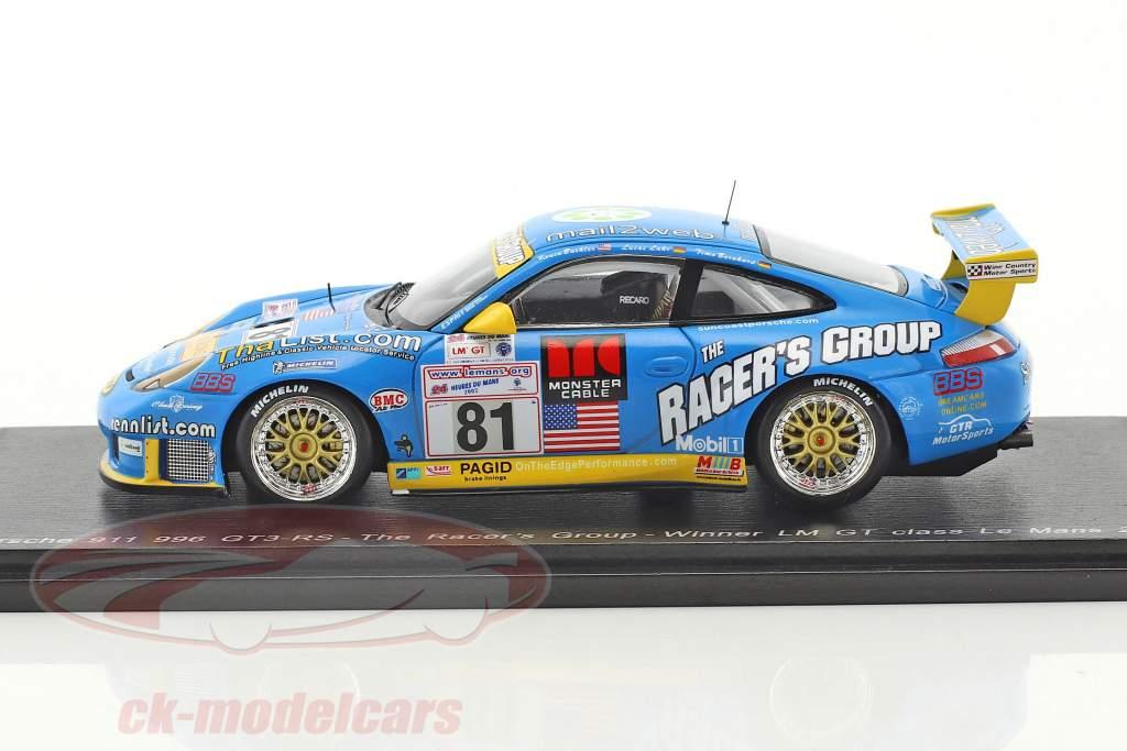 Porsche 996 GT3-RS #81 Winner GT-Klasse 24h LeMans 2002 Buckler, Bernhard, Luhr 1:43 Spark