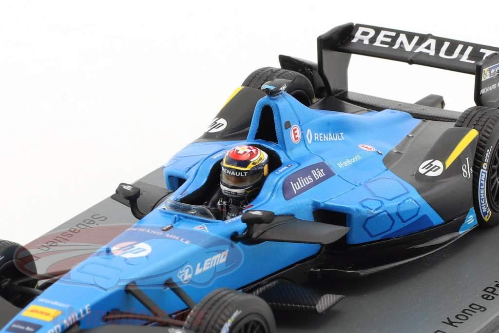 Sebastien Buemi Renault Z.E.16 #9 gagnant HongKong ePrix formule E 2016/2017 1:43 Spark