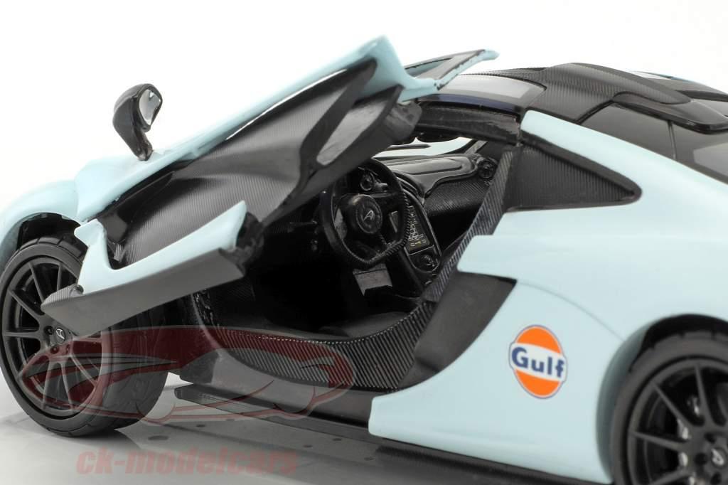 McLaren P1 Baujahr 2015 gulf blau / orange 1:24 MotorMax