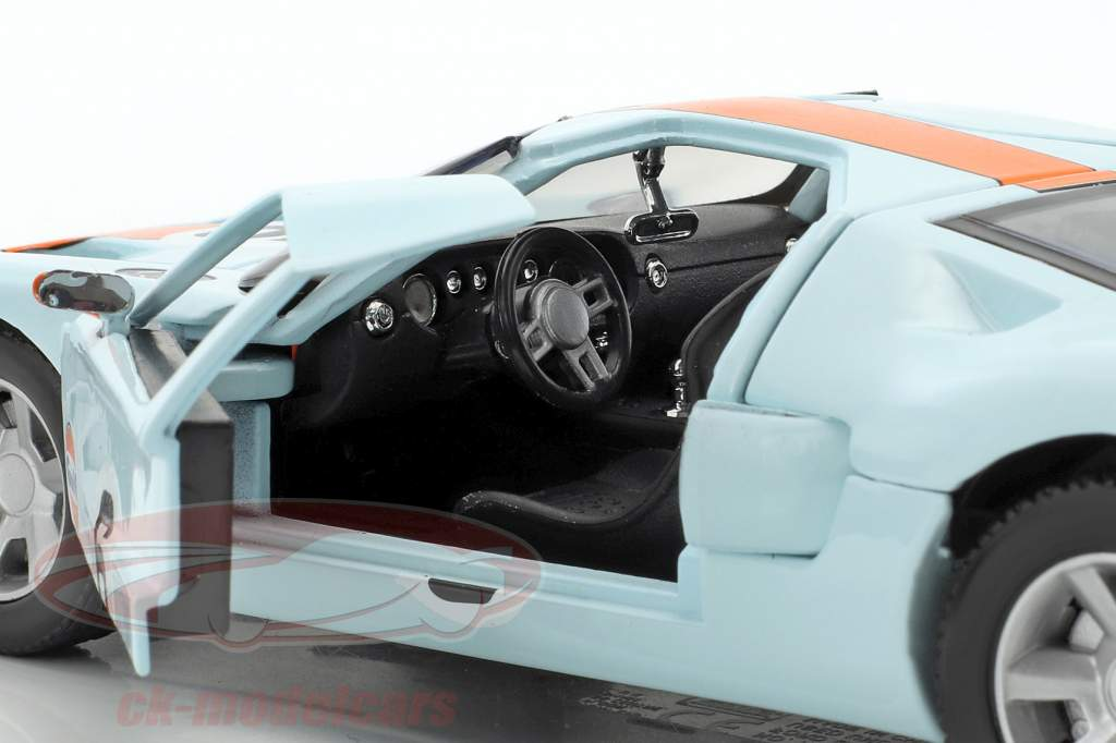 Ford GT Concept #6 year 2004 gulf blue / orange 1:24 MotorMax
