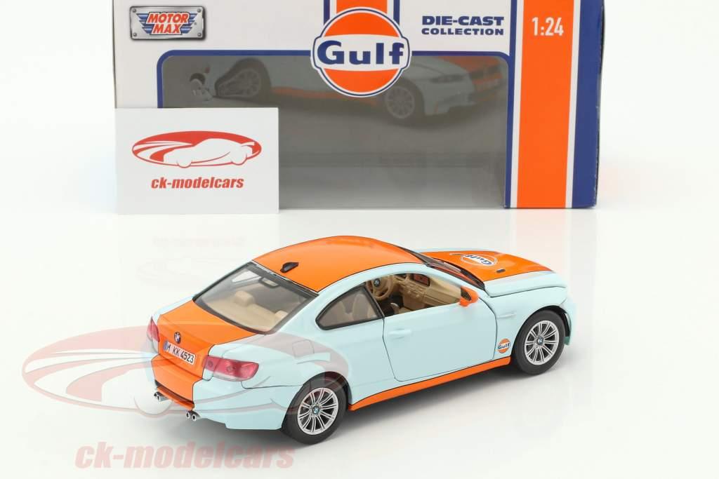 BMW M3 coupe anno di costruzione 2015 gulf blu / arancione 1:24 MotorMax