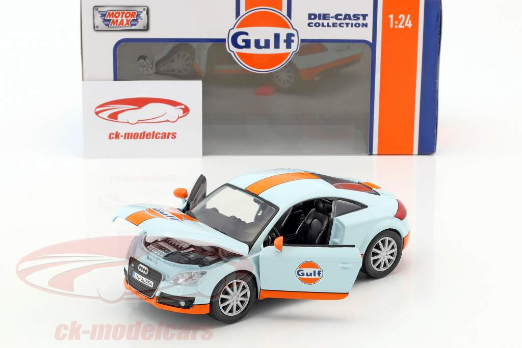 Audi TT coupe year 2015 gulf blue / orange 1:24 MotorMax