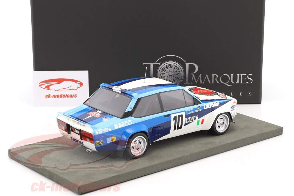 Fiat 131 Abarth #10 Winner Rallye Monte Carlo 1980 Röhrl, Geistdörfer 1:18 TopMarques