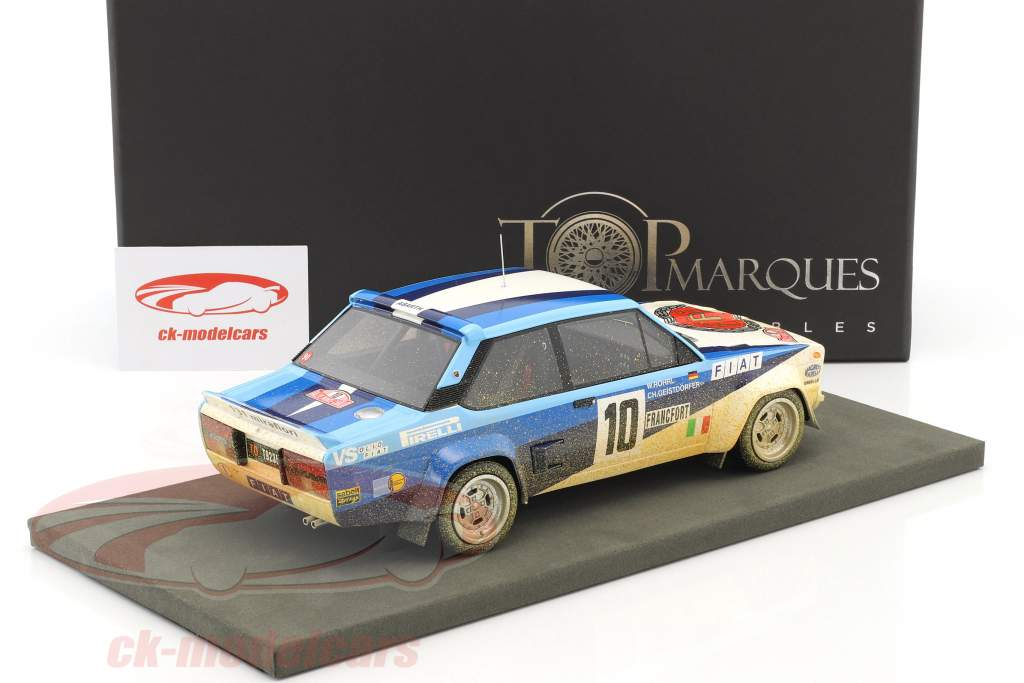 Fiat 131 Abarth Dirty Version #10 Winner Rallye Monte Carlo 1980 Röhrl, Geistdörfer 1:18 TopMarques