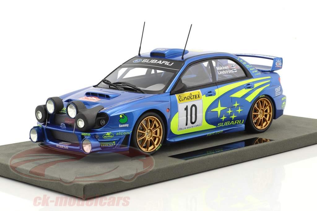 Subaru Impreza S7 Night Vers. #10 vincitore Rallye Monte Carlo 2002 Mäkinen, Lindström 1:18 TopMarques