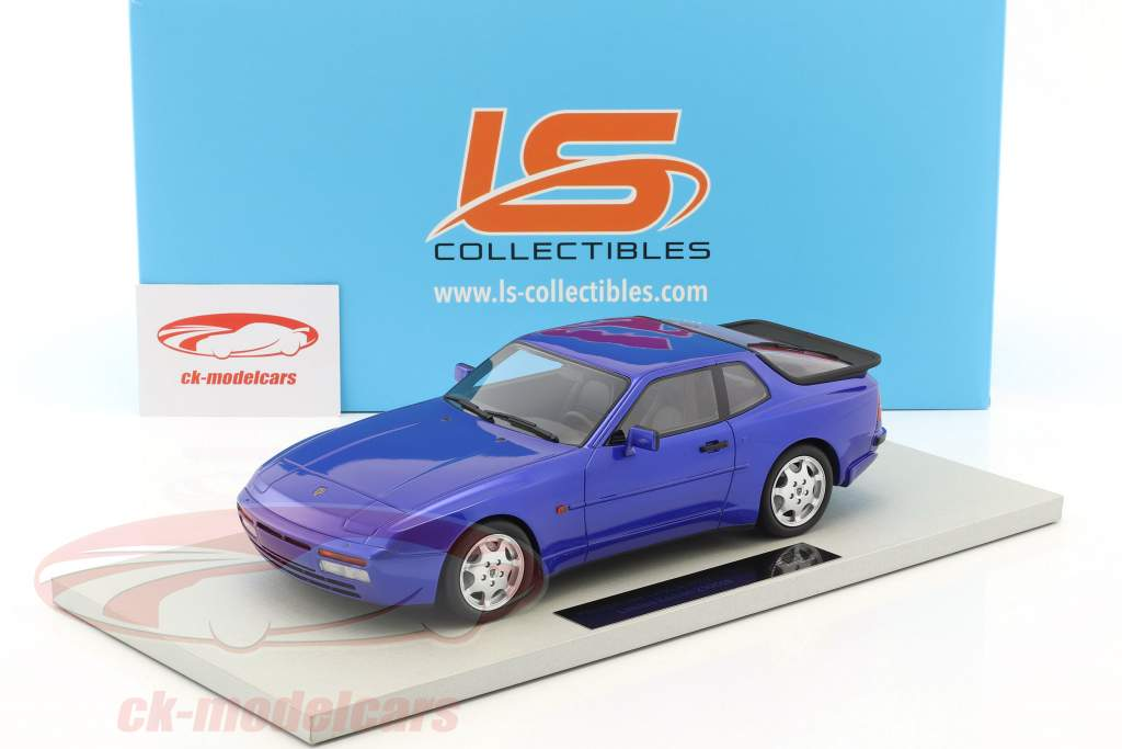 Porsche 944 Turbo S year 1991 blue 1:18 LS Collectibles