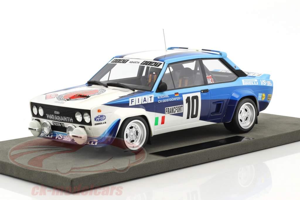 Fiat 131 Abarth #10 gagnant Rallye Monte Carlo 1980 Röhrl, Geistdörfer 1:18 TopMarques