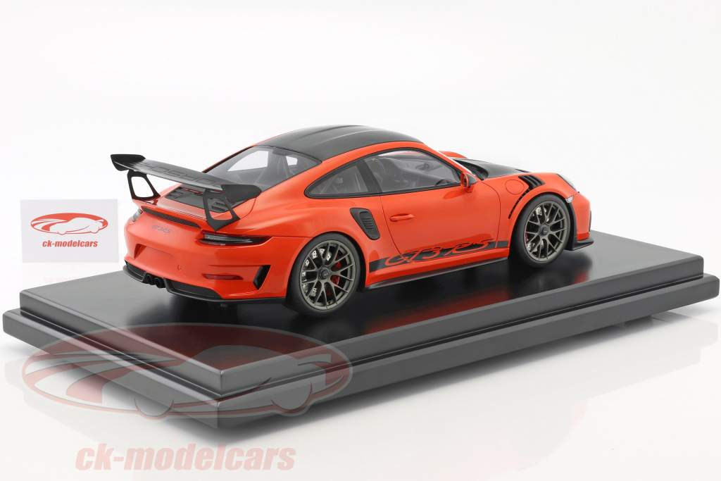 Porsche 911 (991 II) GT3 RS Weissach Package 2018 with showcase lava orange 1:12 Spark