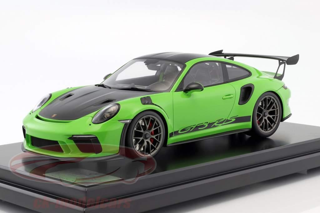 Porsche 911 (991 II) GT3 RS Weissach Package 2018 with showcase lizard green 1:12 Spark