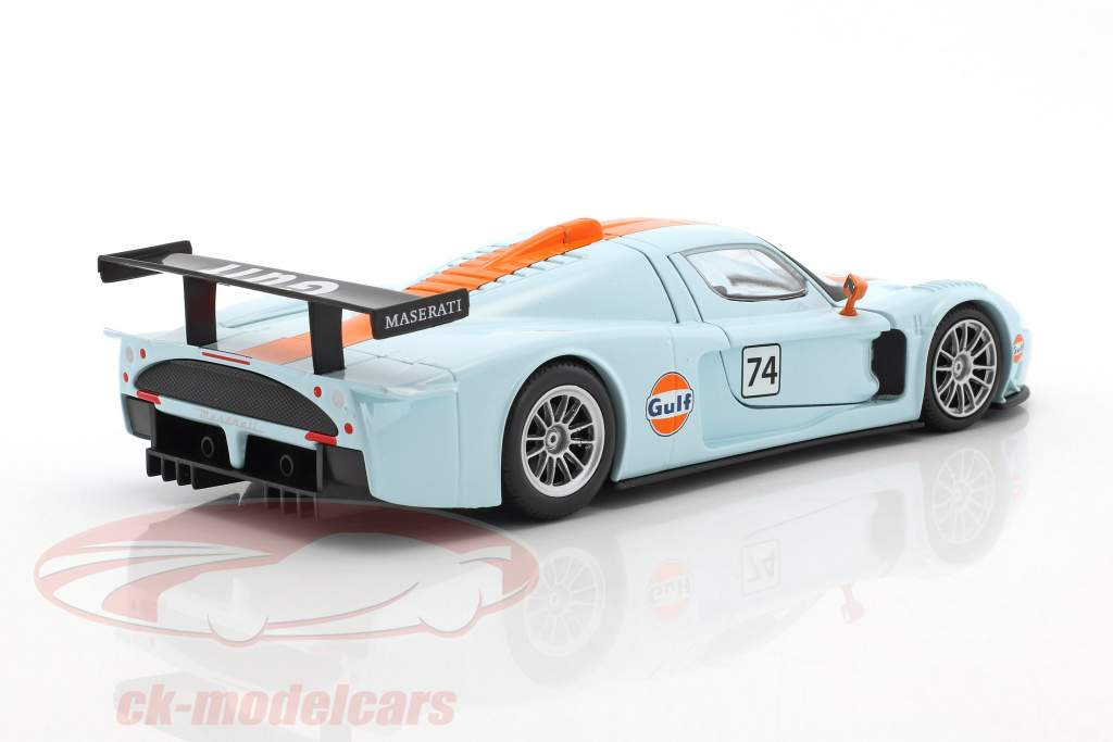 Maserati MC12 Corsa #74 gulf blue / orange 1:24 MotorMax