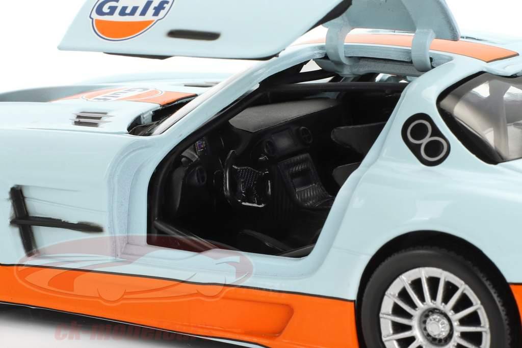 Mercedes-Benz SLS AMG GT3 year 2014 gulf blue / orange 1:24 MotorMax