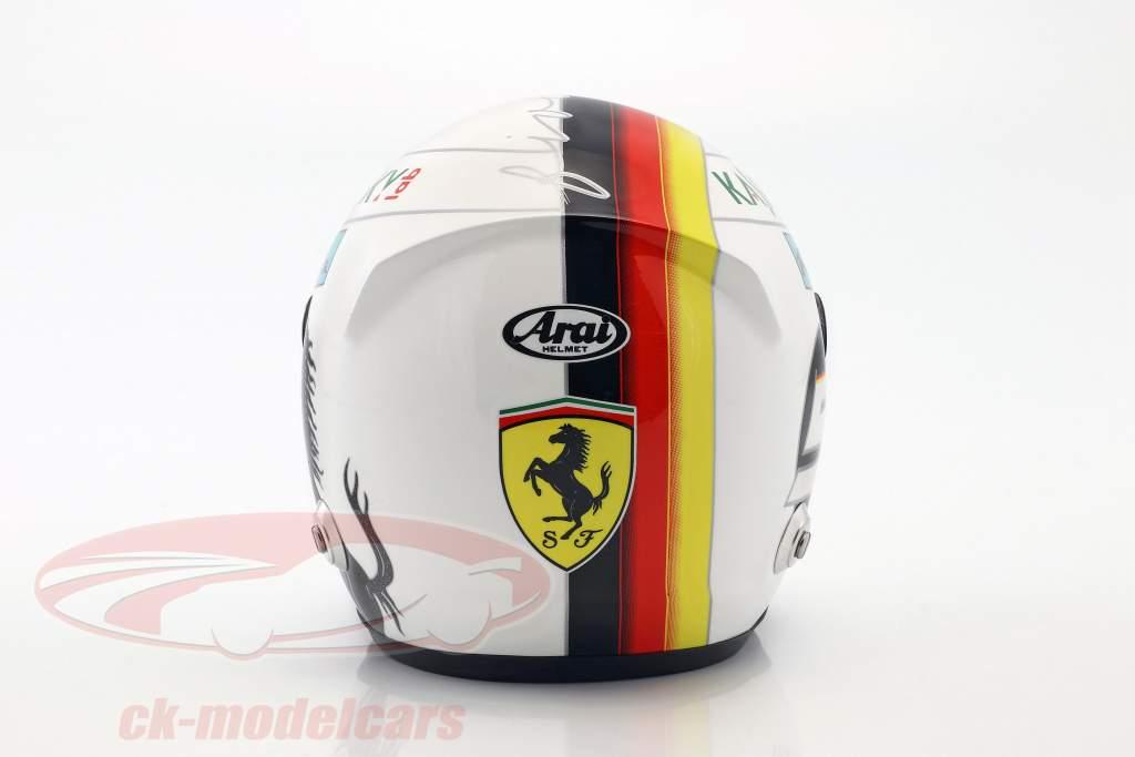 Sebastian Vettel Ferrari SF71H formula 1 2018 helmet 1:2 Arai