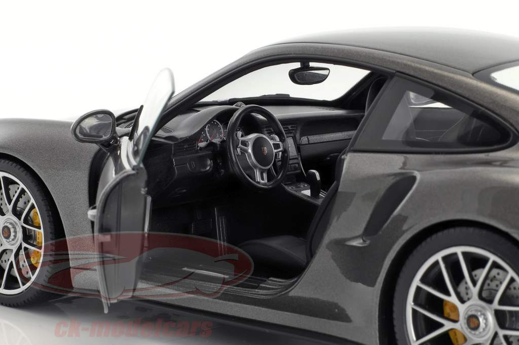 Porsche 911 (991 II) Turbo S année de construction 2016 gris métallique 1:18 Minichamps