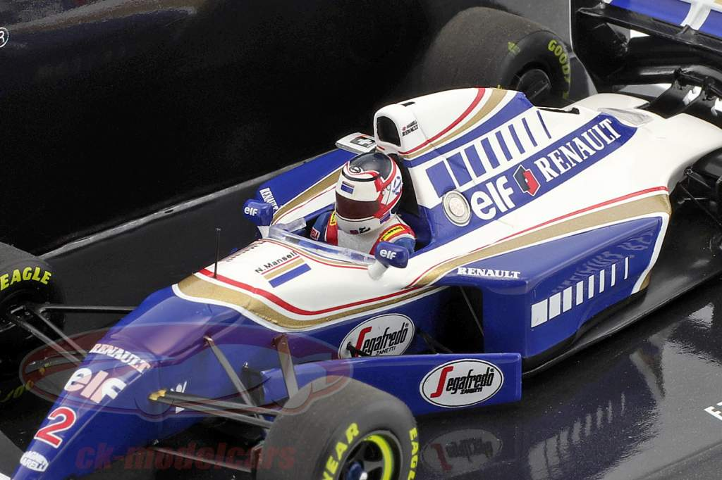 Nigel Mansell Williams FW16 #2 Comeback Frankreich GP Formel 1 1994 1:43 Minichamps