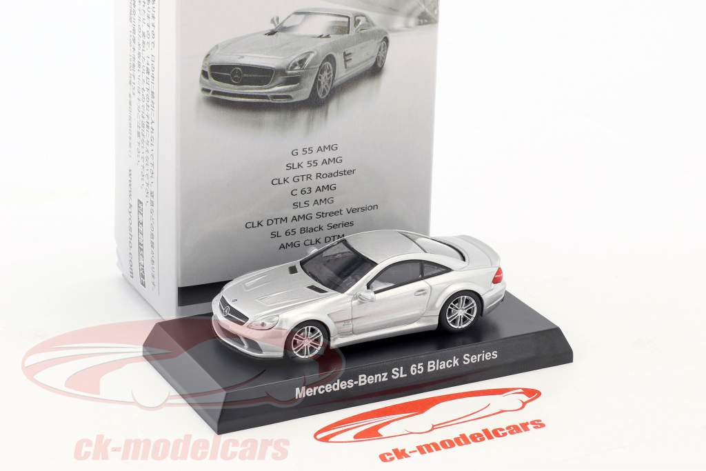 Mercedes-Benz SL 65 Black Series argento metallico 1:64 Kyosho