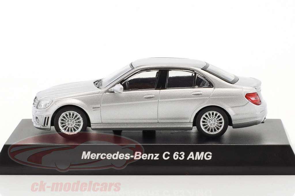 Mercedes-Benz C 63 AMG argento metallico 1:64 Kyosho