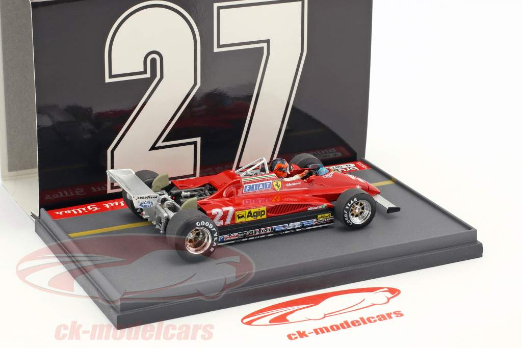 Gilles Villeneuve Ferrari 126C2 #27 belge GP dernier saison formule 1 1982 1:43 Brumm