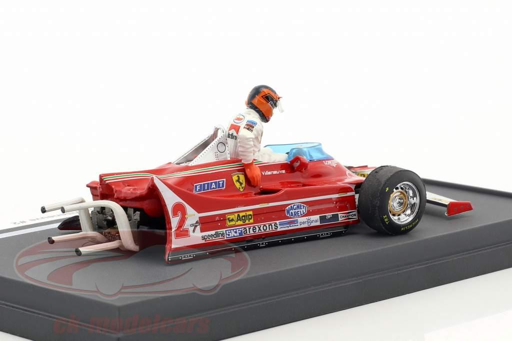 Gilles Villeneuve Ferrari 312T5 #2 incidente italiano GP formula 1 1980 1:43 Brumm