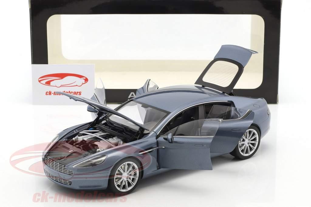 Aston Martin Rapide Year 2010 concours blue 1:18 AUTOart