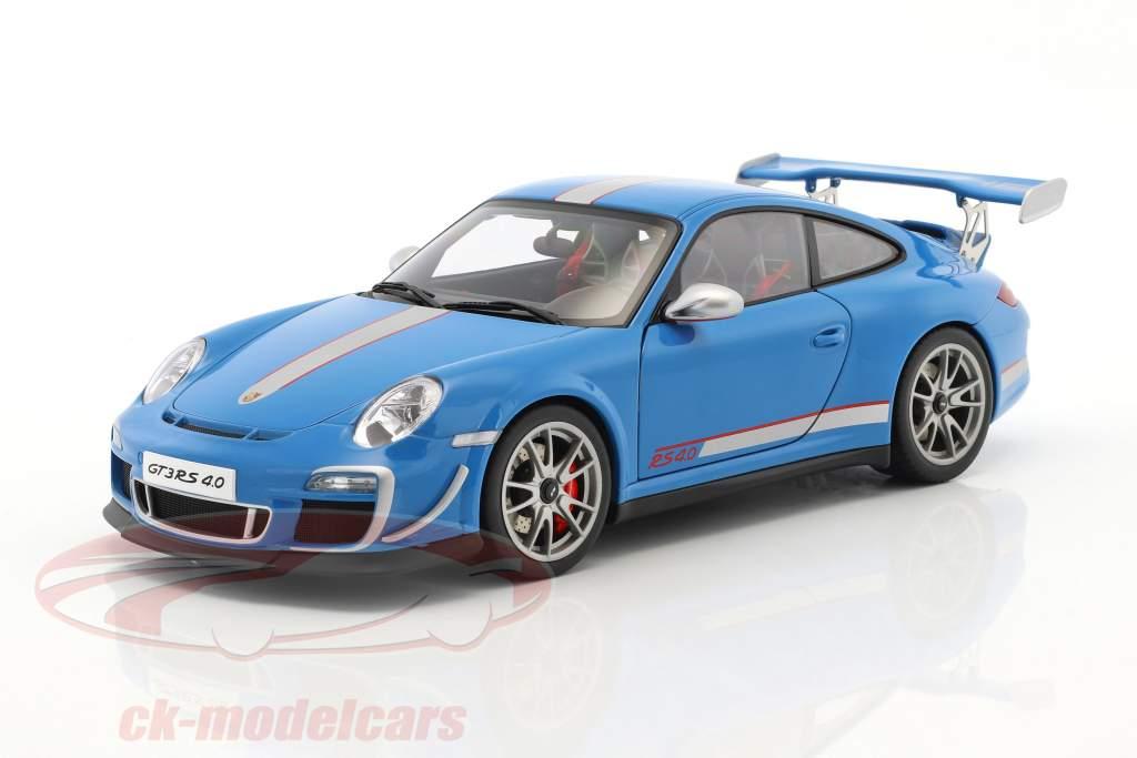 Porsche 911 (997) GT3 RS 4.0 Year 2011 blue 1:18 AUTOart