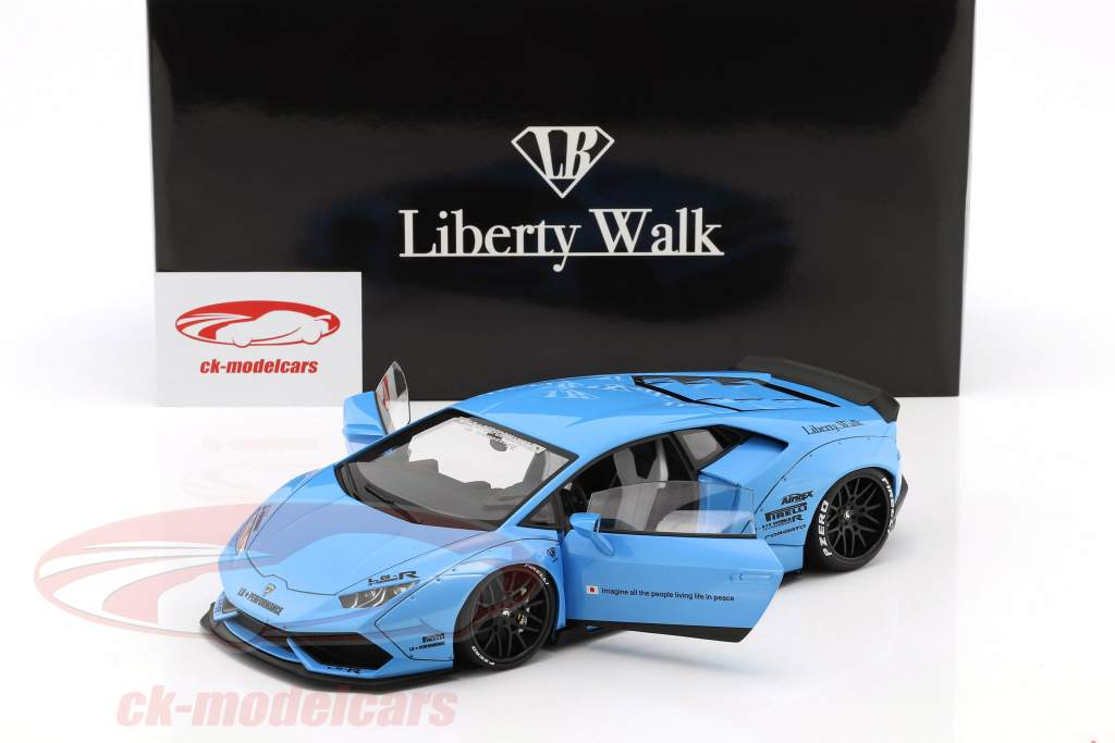 Lamborghini Huracan Liberty Walk LB-Works ciel bleu métallique 1:18 AUTOart
