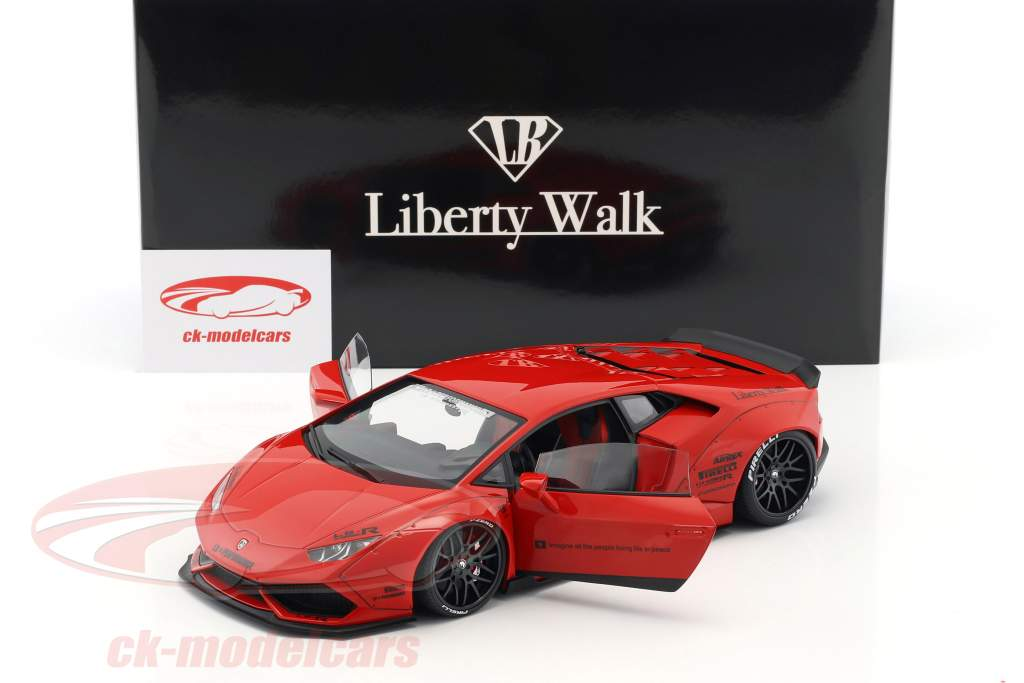 Lamborghini Huracan Liberty Walk LB-Works rosso 1:18 AUTOart