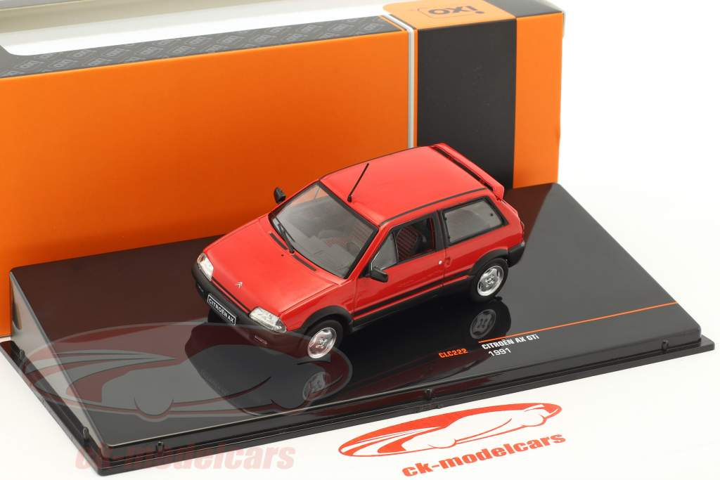Citroen AX GTi année de construction 1991 rouge 1:43 Ixo