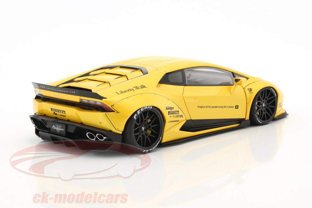 Lamborghini Huracan Liberty Walk LB-Works yellow metallic 1:18 AUTOart