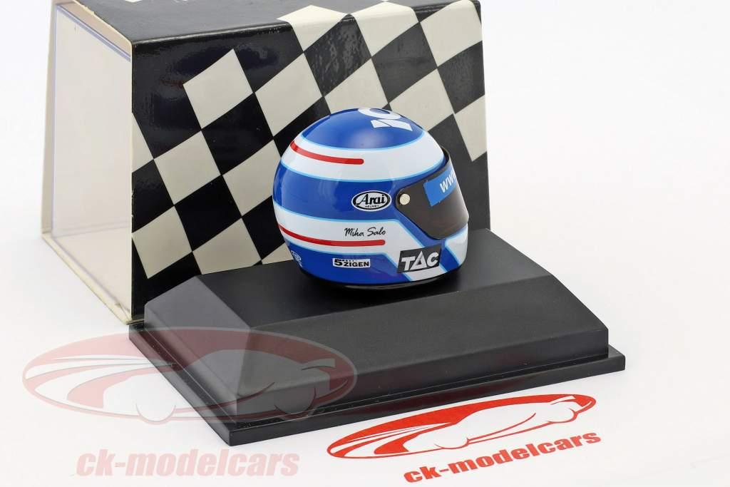 Mika Salo Tyrrell 025 formula 1 1997 helmet 1:8 Minichamps