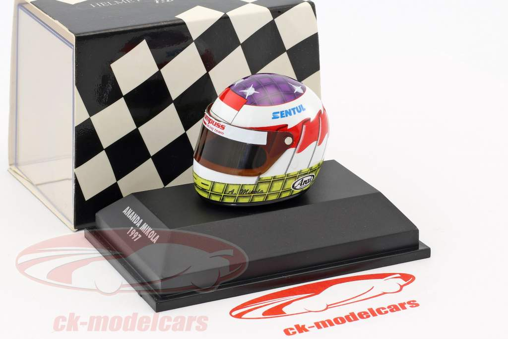 Ananda Mikola formule 3 Italie 1997 casque 1:8 Minichamps