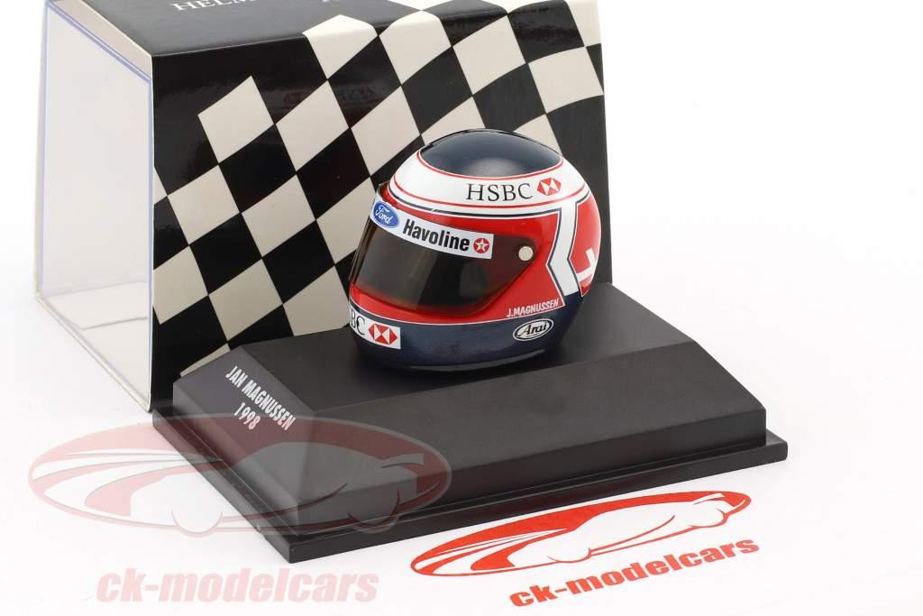 Jan Magnussen Stewart SF2 formula 1 1998 helmet 1:8 Minichamps
