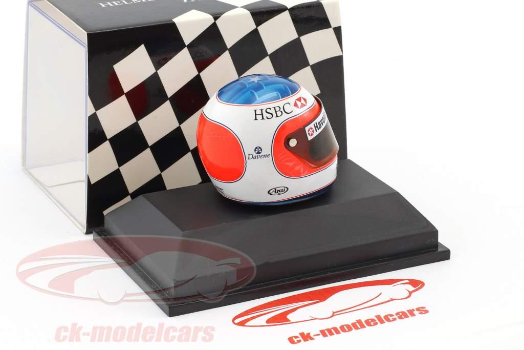 Rubens Barrichello formula 1 1998 helmet 1:8 Minichamps