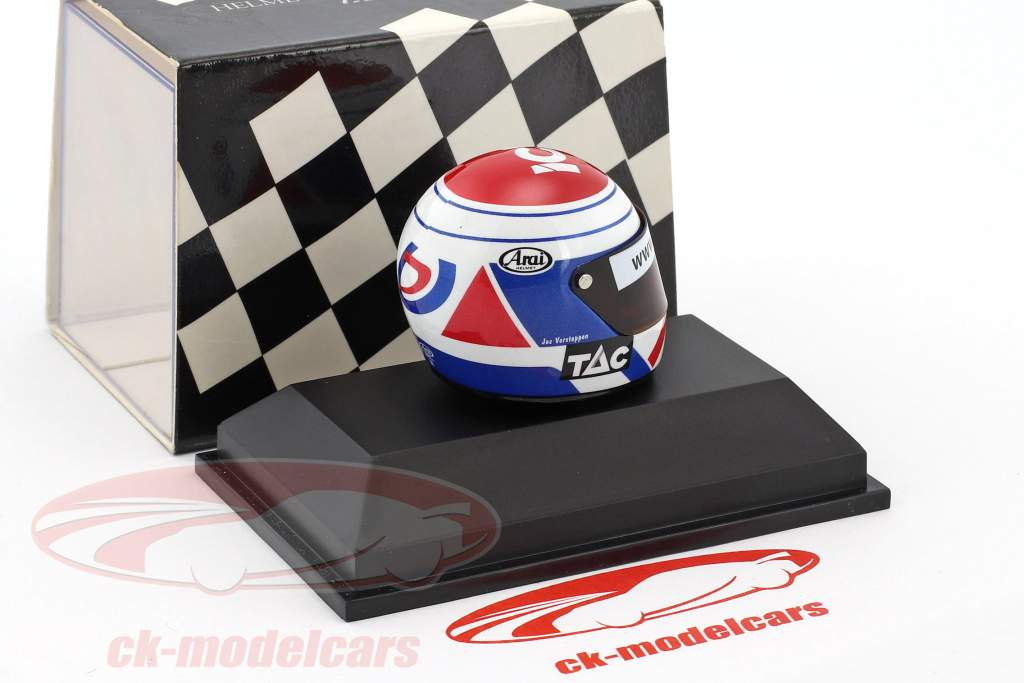 Jos Verstappen Tyrrell 025 formula 1 1997 helmet 1:8 Minichamps
