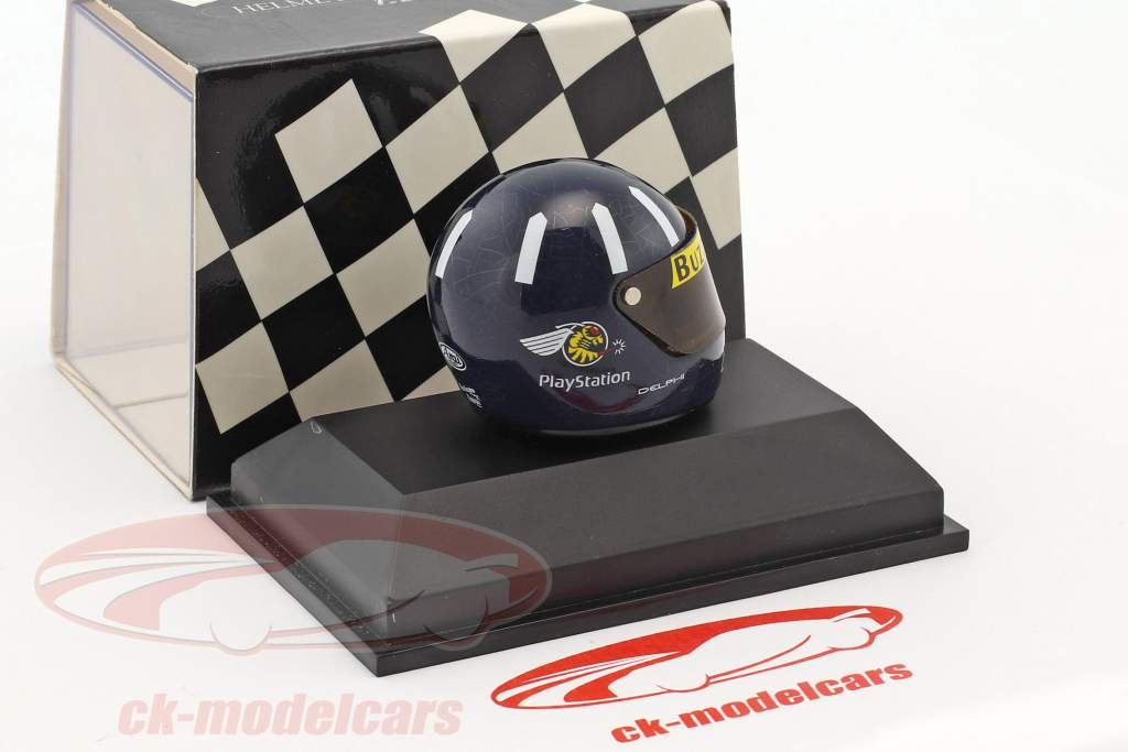 Damon Hill Jordan 198 formule 1 1998 casque 1:8 Minichamps