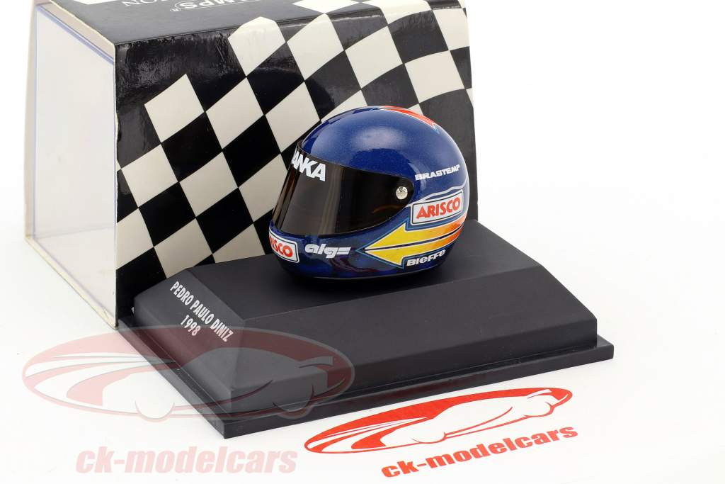 Pedro Diniz Arrows A19 Formel 1 1998 Helm 1:8 Minichamps