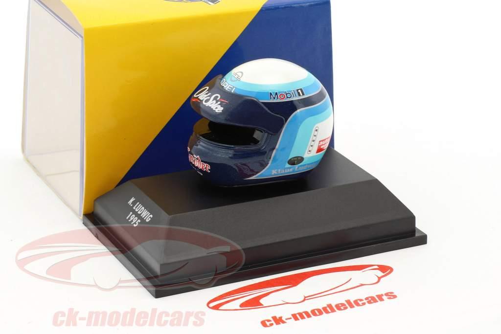 Klaus Ludwig DTM 1995 Opel Team Rosberg casque 1:8 Minichamps