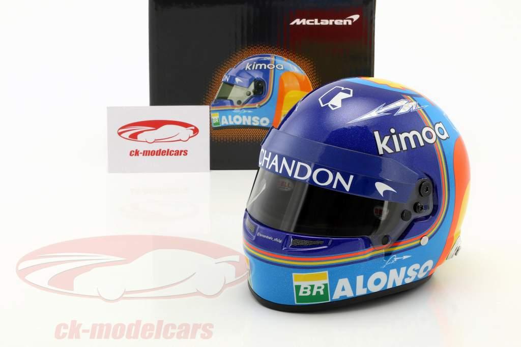 Fernando Alonso #14 McLaren F1 Team formule 1 2018 casque 1:2 Bell
