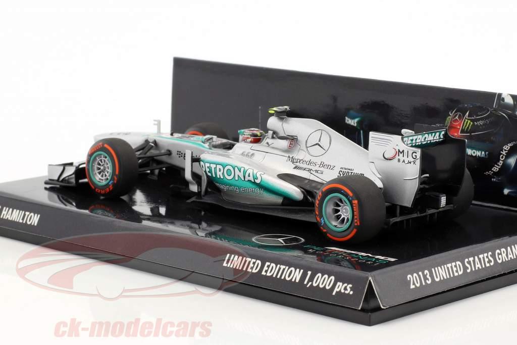 Lewis Hamilton Mercedes F1 W04 #10 USA GP Formel 1 2013 1:43 Minichamps