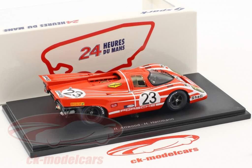 Porsche 917K #23 gagnant 24h LeMans 1970 Herrmann, Attwood 1:43 Spark