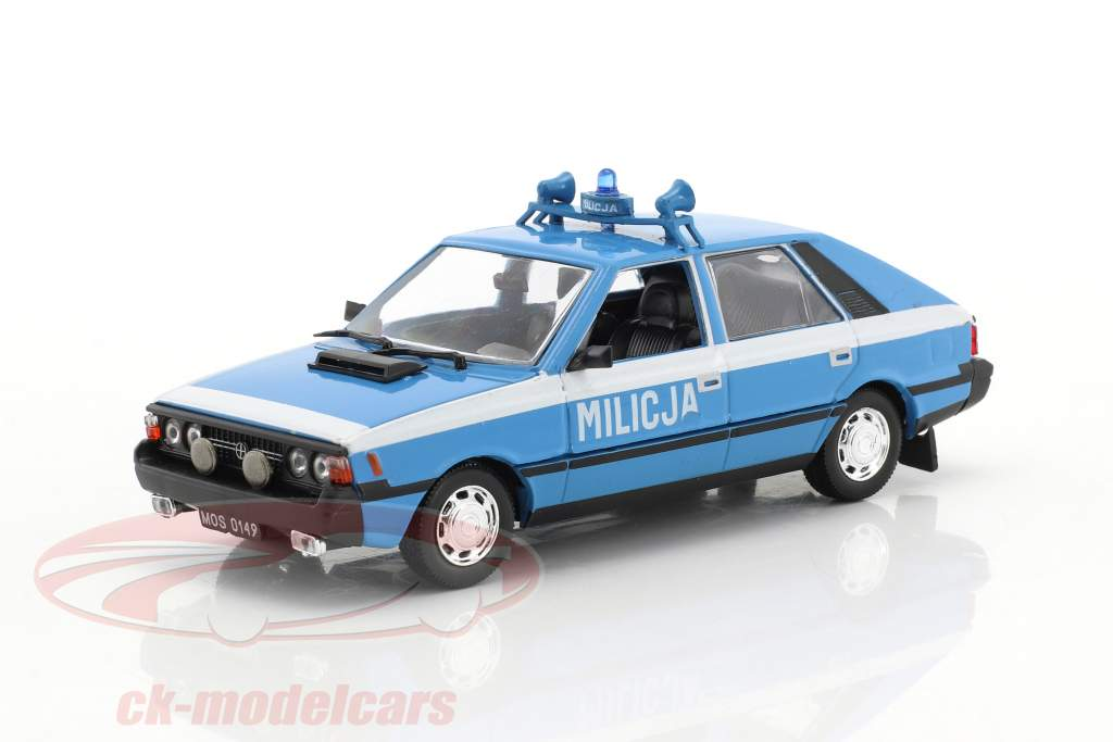 Polonez 1500 coupe police light blue / white 1:43 Altaya