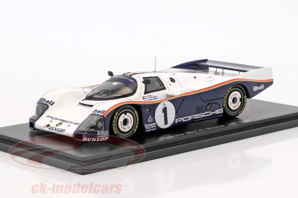 Porsche 962C #1 Winner 24h LeMans 1986 Bell, Stuck, Holbert 1:43 Spark