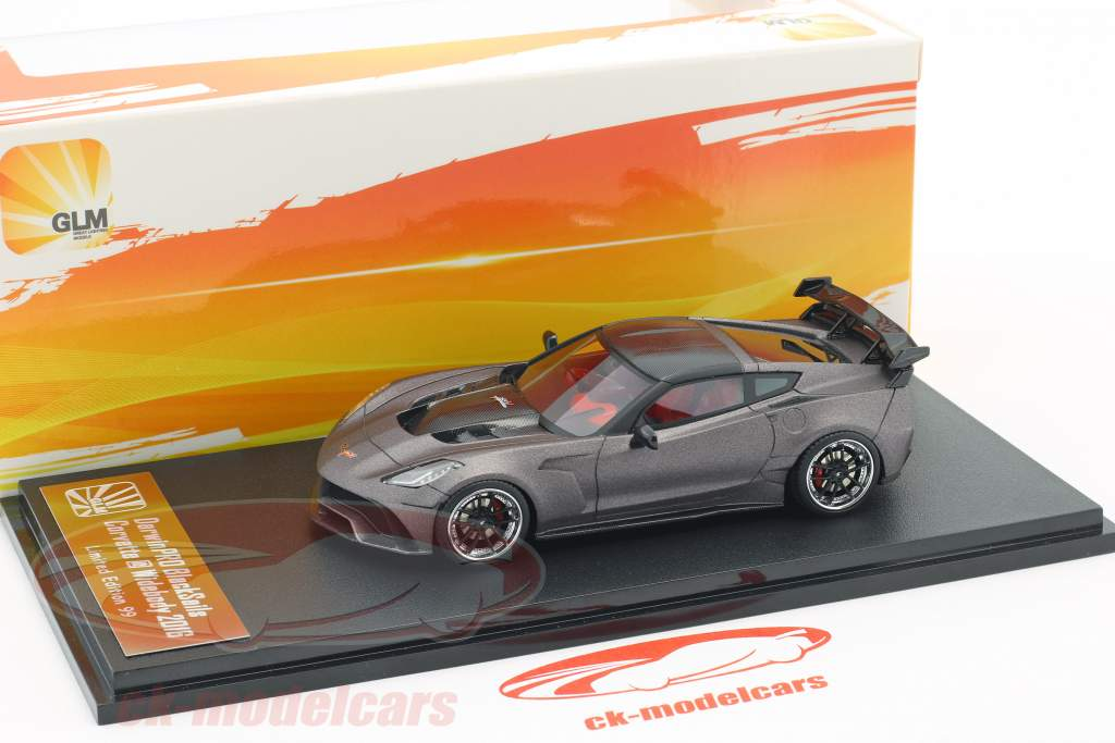 Chevrolet Corvette Widebody DarwinPRO Black Sails year 2016 mat gray / black 1:43 GLM