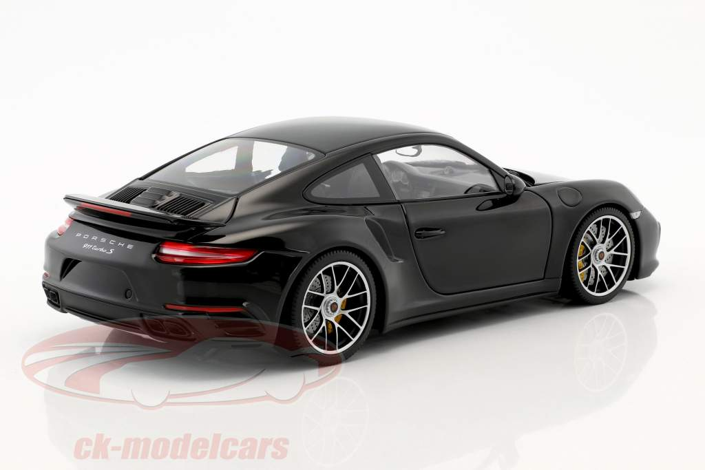 Porsche 911 (991 II) Turbo S year 2016 black 1:18 Minichamps