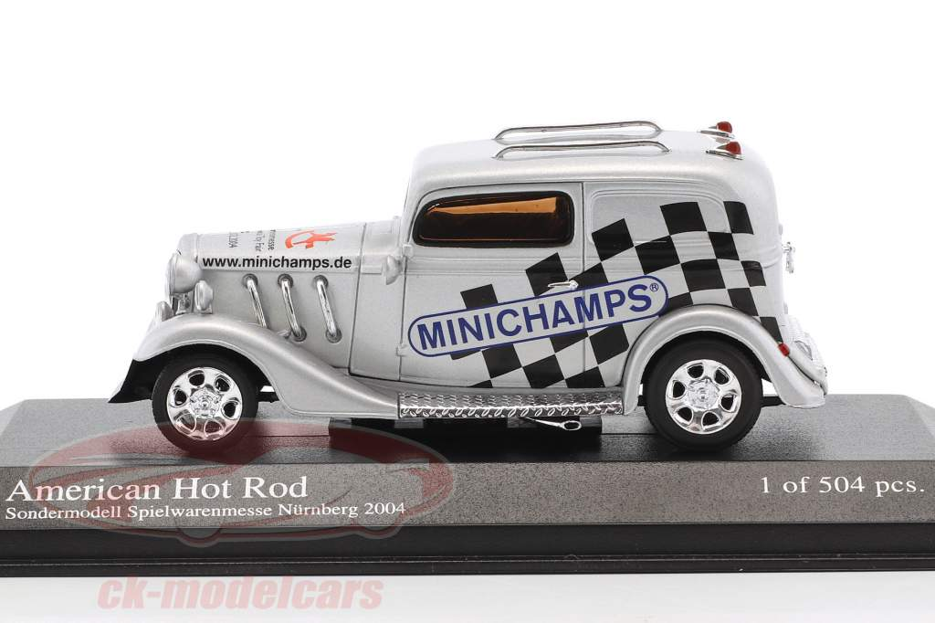 American Hot Rod special Edition Spielwarenmesse Nürnberg 2004 silver 1:43 Minichamps