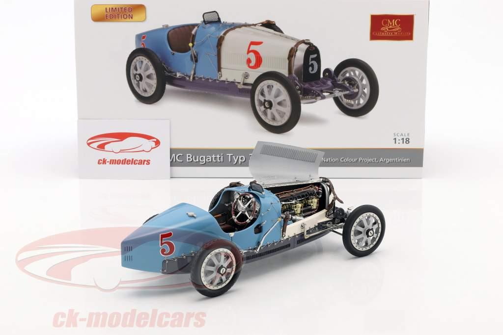 Bugatti type 35 Grand Prix #5 Nation Colour Project Argentine 1:18 CMC